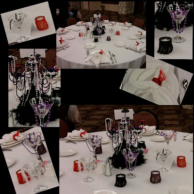 EventsDEE-signed 1920's CADV Brunch Table centerpiece event planning party planning
