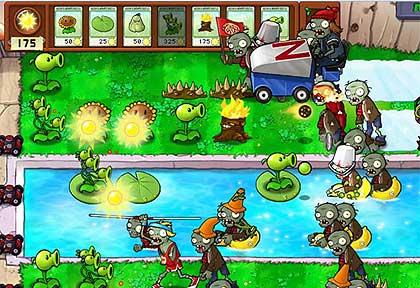 Bu oyunun zombie ve çiçekler arasindaki kavga ile geçmesi oldukça