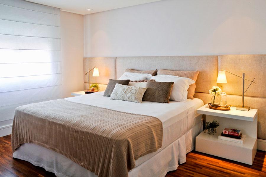 decoracao laca branca : decoracao laca branca: de laca branca, cortina romana e gesso no teto com luzes de LED
