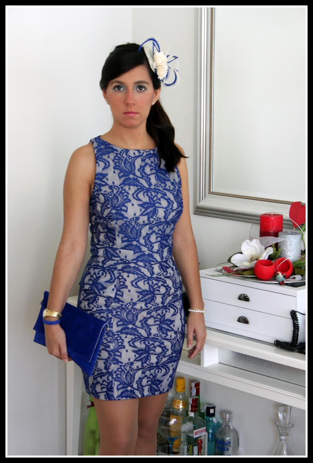 Tocados para vestido azul