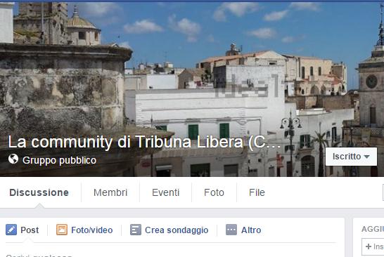 La Community Facebook di Tribuna Libera