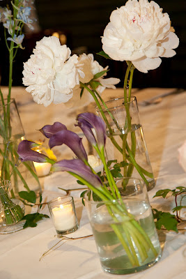 Longfellows Wedding centerpieces