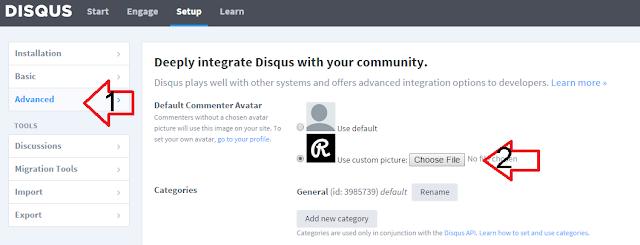 Cara Mengatur Default Picture Profile Disqus Komentator Di Blog