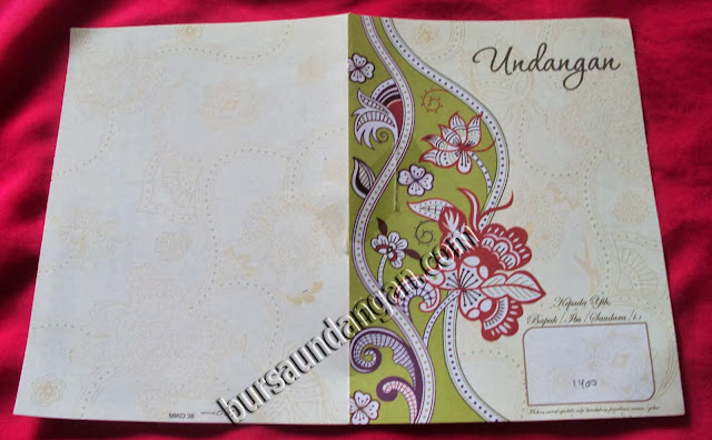 Desain Kartu Undangan Pernikahan Modern - Kode MIKO 38 | BURSA KARTU ...