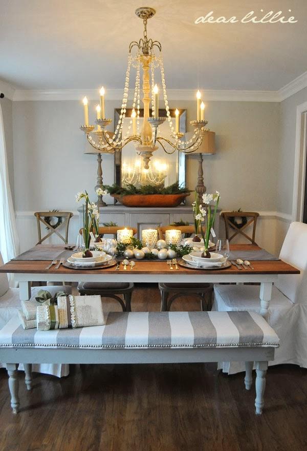 Dear Lillie: Our Christmas Table Setting