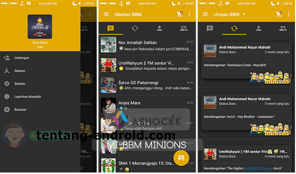Download BBM MI Mod Tema Minions Apk