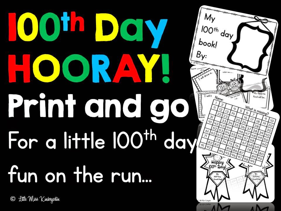 https://www.teacherspayteachers.com/Product/100th-Day-HOORAY-1651977