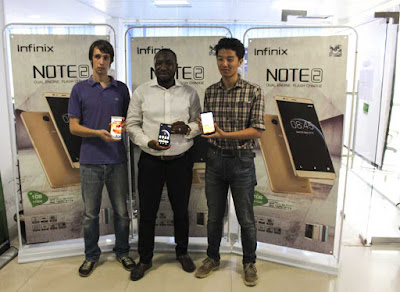 Infinix Unveils latest Note 2 with Cloud storage and 2GB Ram