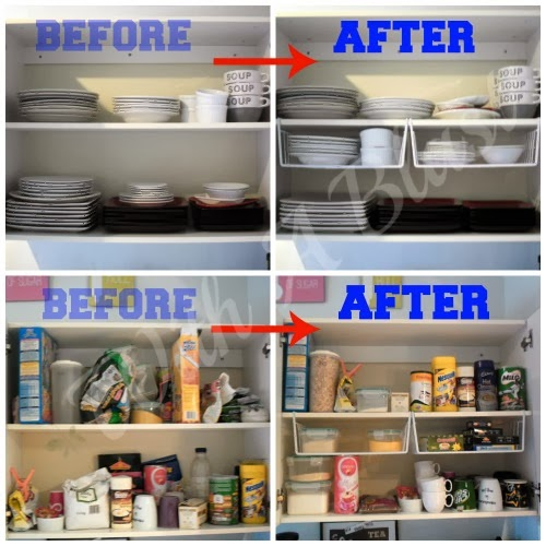 Kitchen Cabinets Organized ~ Organize Your Cabinets Quickly U0026 Easily Using  One Type Of Basket #