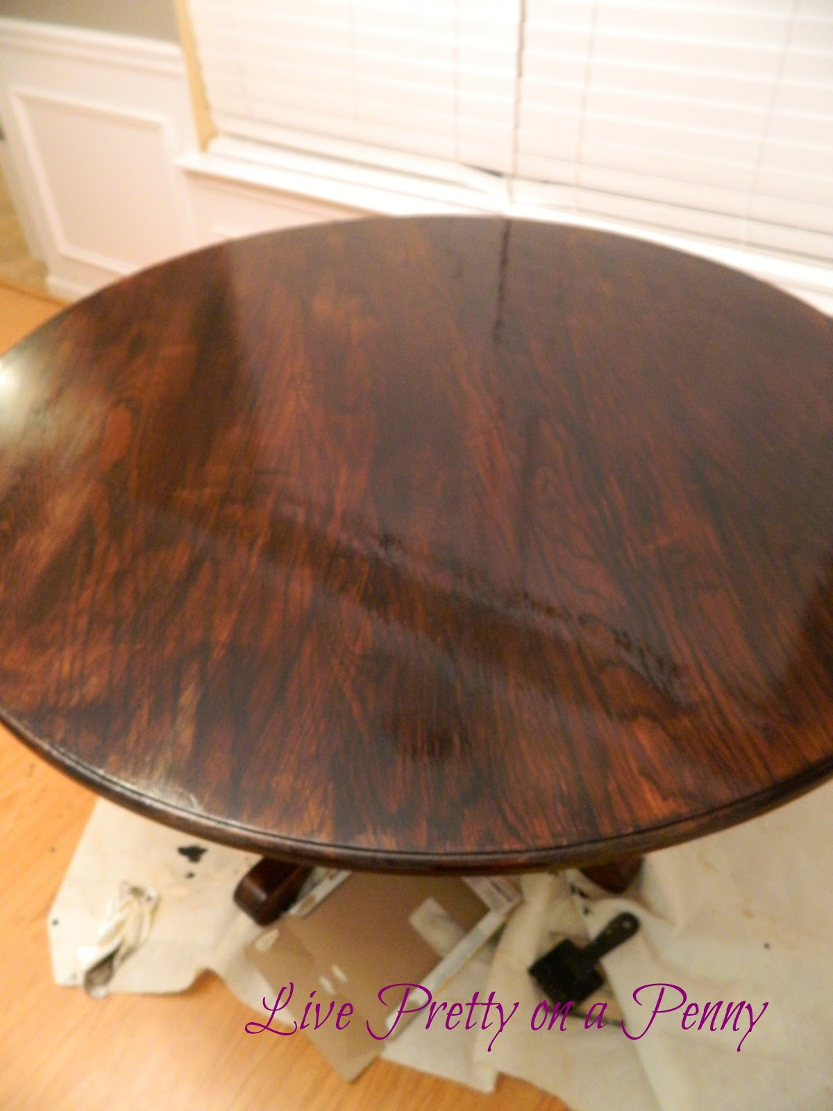 how to change the stain colour on a table