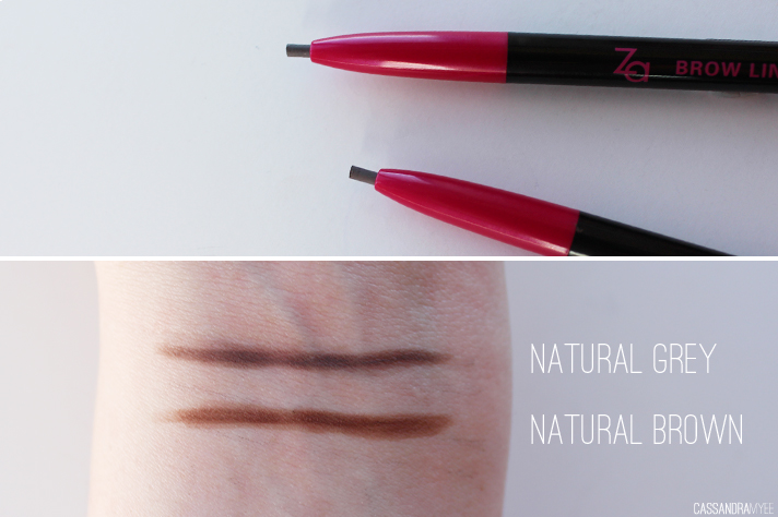 ZA COSMETICS // Brow Liners in Natural Grey + Natural Brown | Review + Swatches