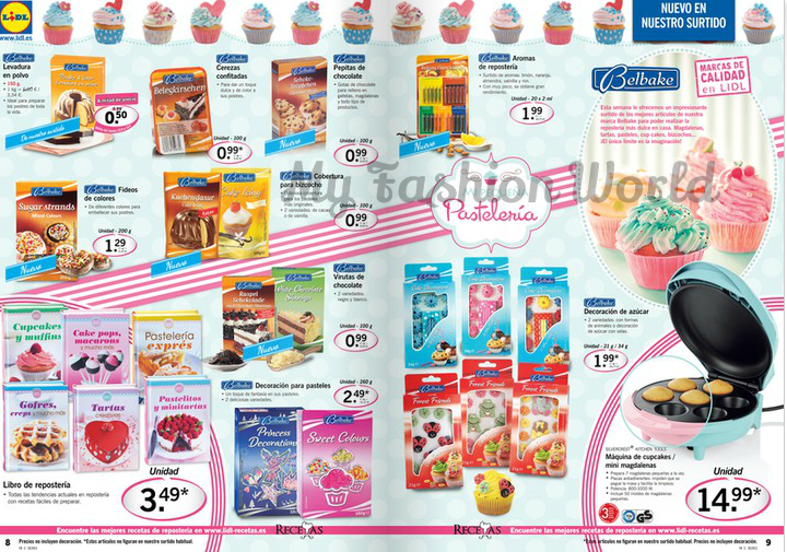 My fashion world haul lidl cupcakes cake pops for Catalogo lidl granada