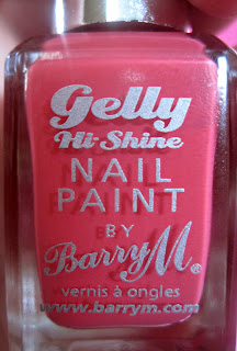 Barry M Gelly Hi-Shine Nail Polish Grapefruit