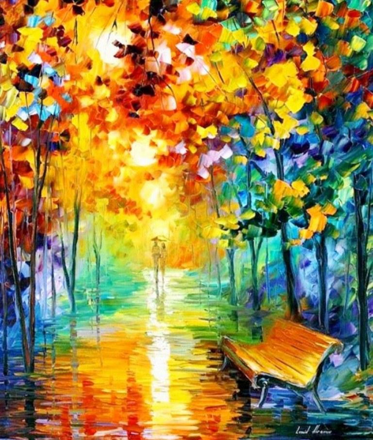 Pinturas cuadros lienzos pinturas con esp tula al leo - Pinturas para suelos de garajes ...
