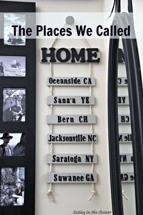 Places We've Called Home Sign