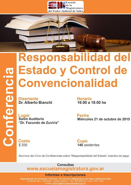Conferencia sobre Responsabilidad del Estado y Control de Convencionalidad