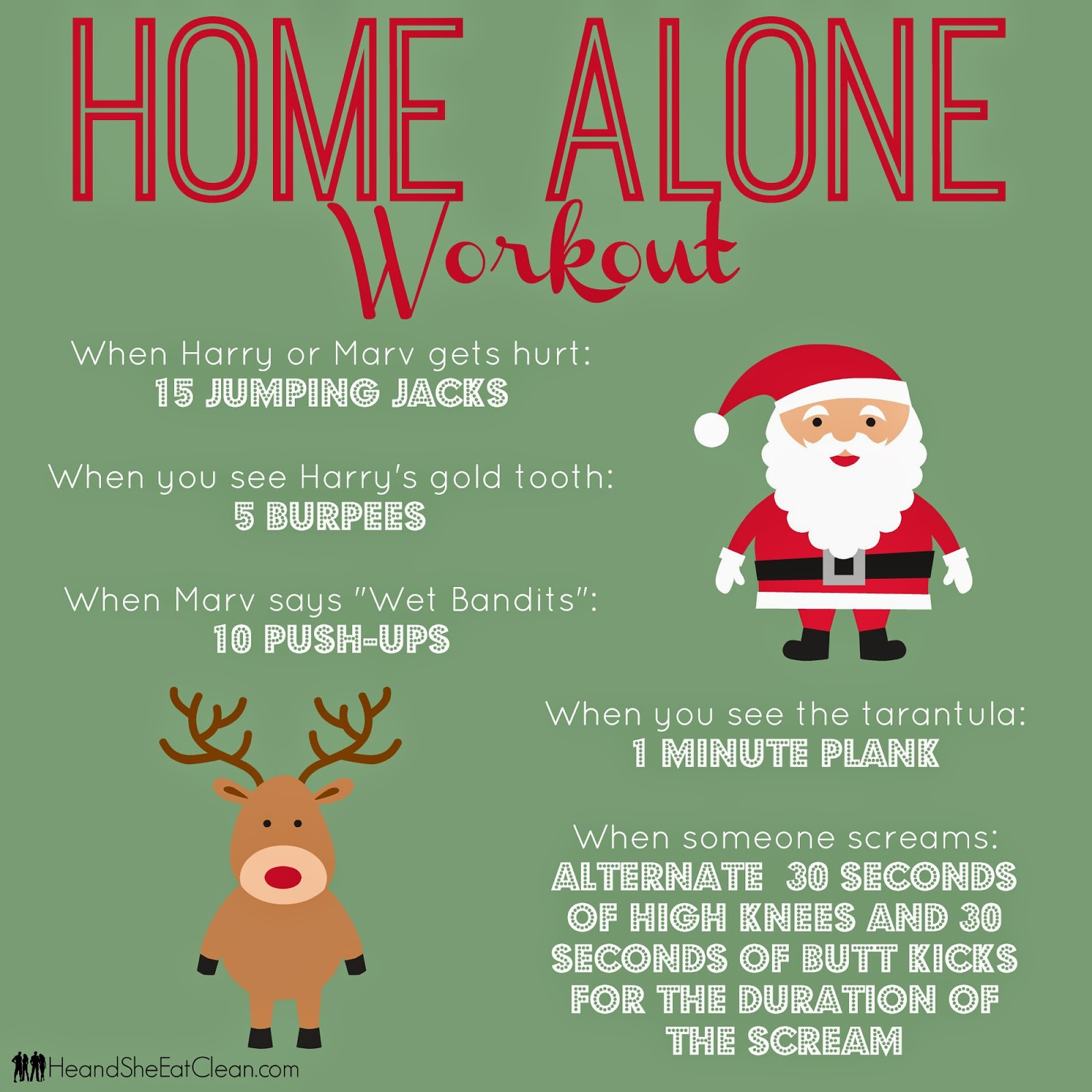 Home Alone Workout — He & She Eat Clean | Healthy Recipes & Workout Plans