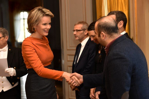 King Philippe And Queen Mathilde Attended A Meeting At The Royal Palace