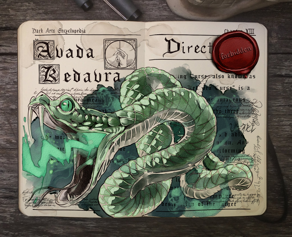 03-Avada-Kedavra-Gabriel-Picolo-kun-Harry-Potter-Moleskine-Drawings-of-Wizard-Spells-www-designstack-co