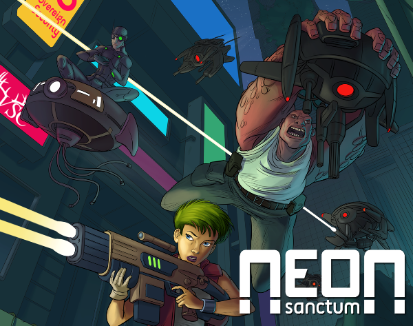 Neon Sanctum card driven roleplaying game
