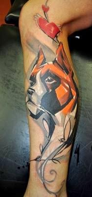 Foto de tatuagem de caes