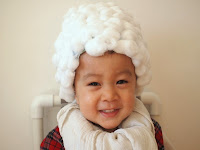 DIY George Washington Cotton Ball wig