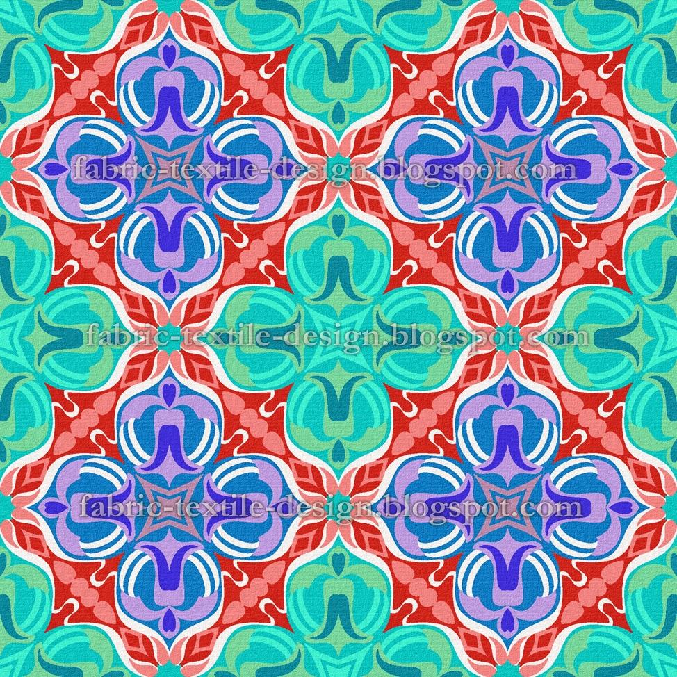 Textile designs retro geometric wallpaper pakistani for Fabric designs