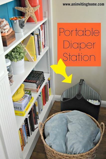 a portable diaper station