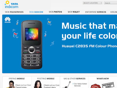 Tata Indicom Homepage