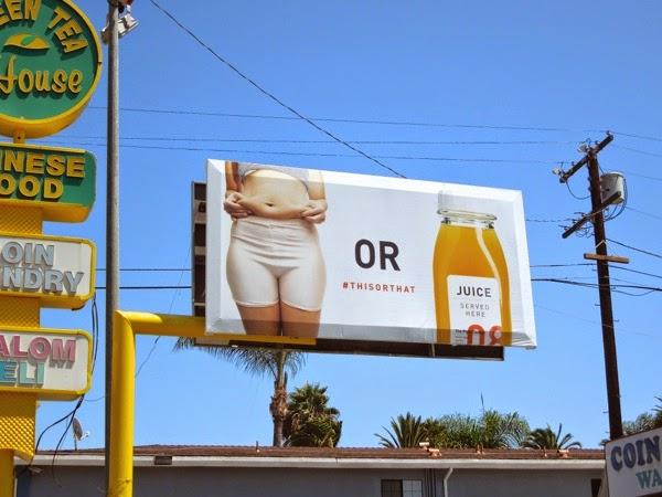 Belly fat or Juice billboard