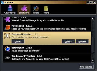 Backup N restore Password Firefox 1