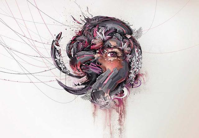 karya Kreatif abstrak Grafis Ilustrasi dan manipulasi Foto Nik Ainley