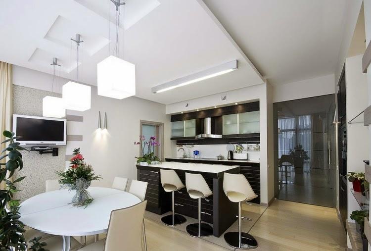 Decorar una cocina y comedor juntos colores en casa for Disenos de cocinas comedor modernas