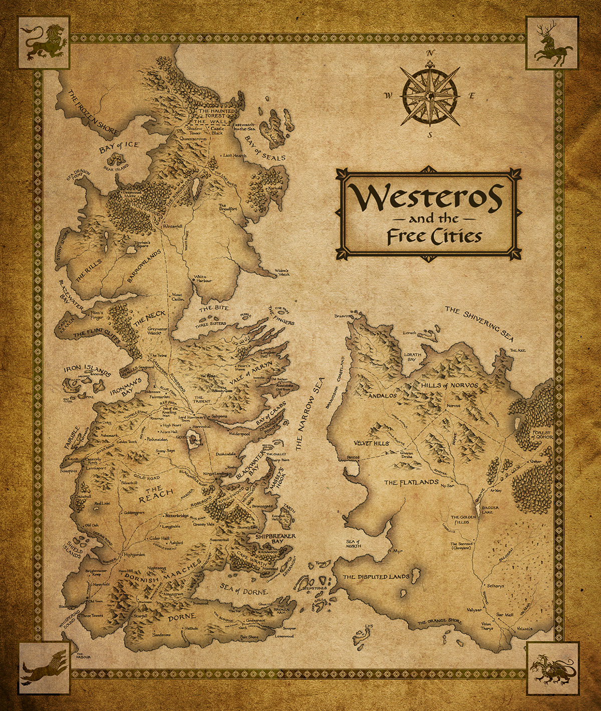 Check out this awsome hbo map of westeros and free cities this is currently the best map gumiabroncs Images