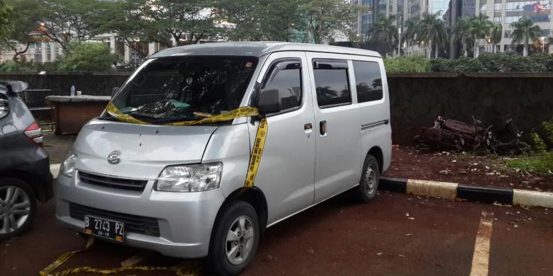 Diduga Mobil Pelaku Teror di Kawasan Sarinah