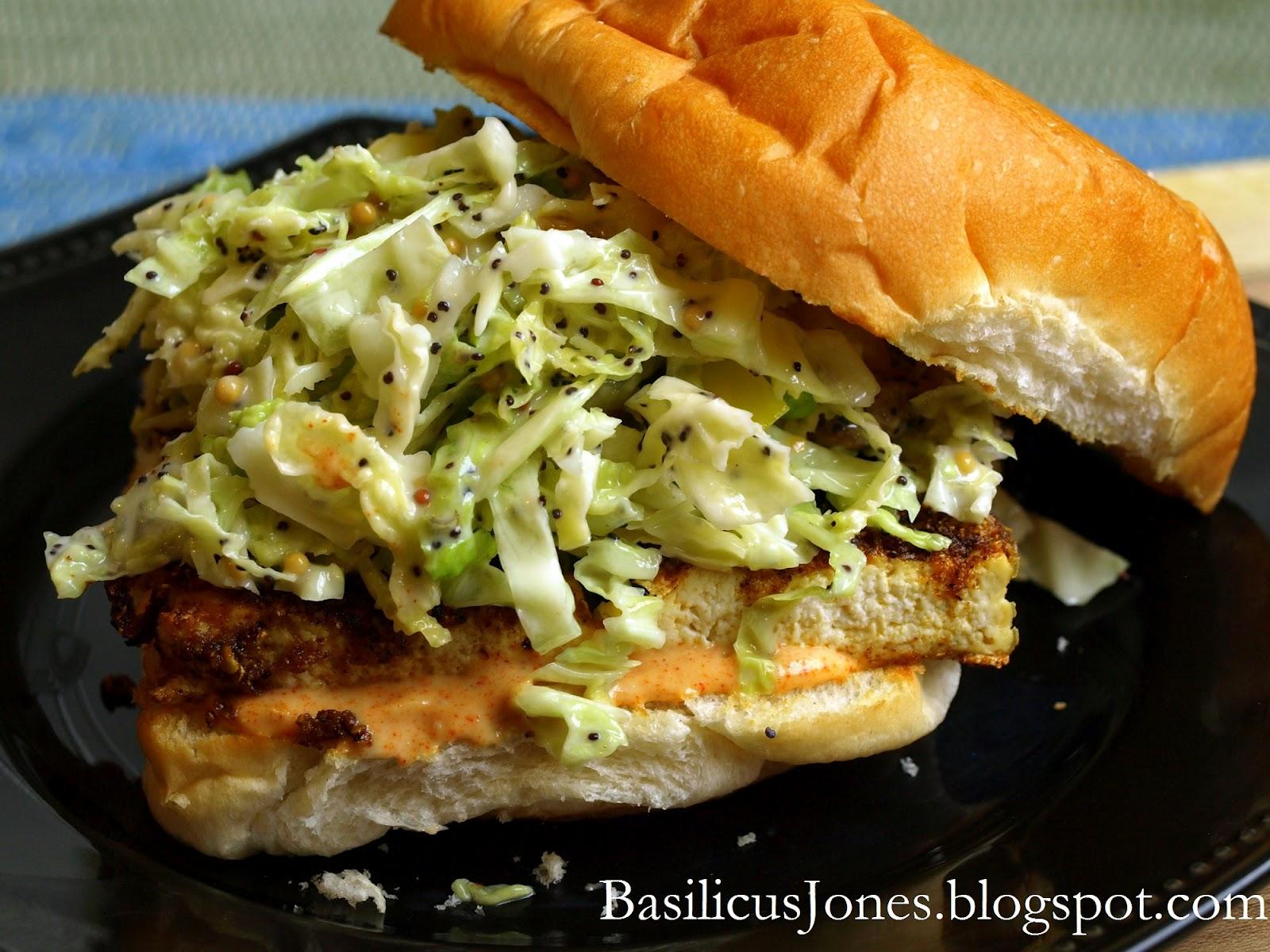 Grilled Tofu Sandwiches with Slaw | BasilicusJones