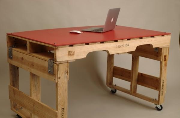 Juego de mesas con palets para habitaciones con poco espacio - Mesa de palets bricolaje ...