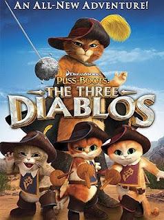 Carátula El Gato con Botas: Los 3 Diablos pelicula dvdrip latino