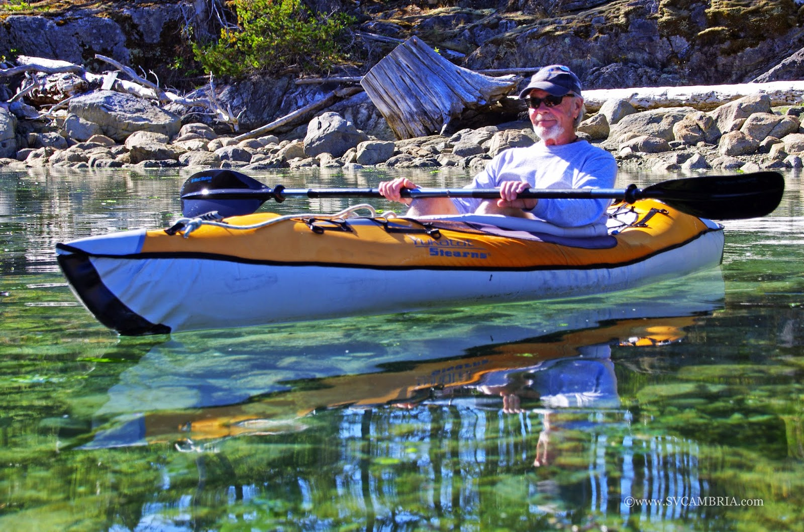 Kayaking in the Octopus Islands Marine Park.