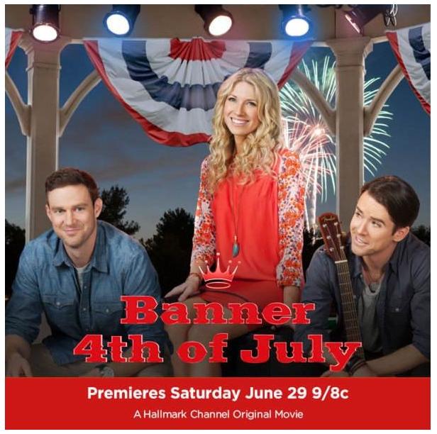 a hallmark channel musical movie banner 4th of july starring an american idol alum - Hallmark Christmas Movies 2013