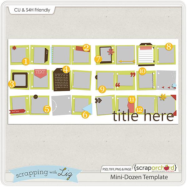 http://scraporchard.com/market/Mini-Dozen-Digital-Scrapbook-Template.html
