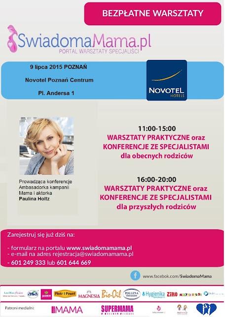 Bezpłatne spotkania Świadoma Mama w lipcu 2015 r. -> w Poznaniu