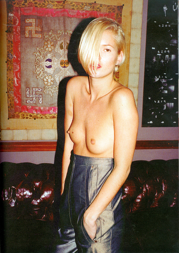 Purple Fashion Spring 2001 Kate Moss in Lutz photographed by Juergen Teller