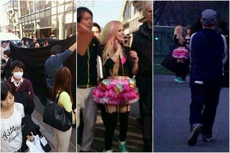 Avril Lavigne Hello Kitty Japan Tokyo video shoot set