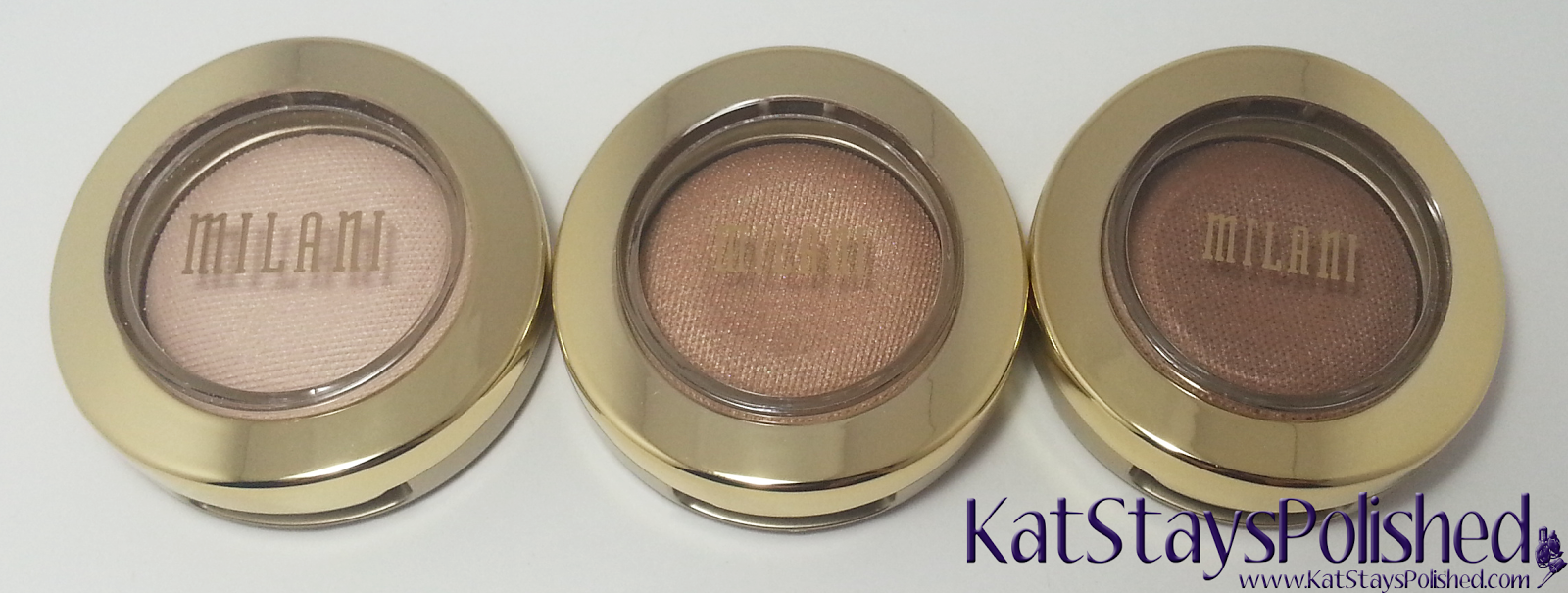 Milani Bella Eyes Gel Powder Eye Shadow - Ivory - Sand - Cappuccino | Kat Stays Polished