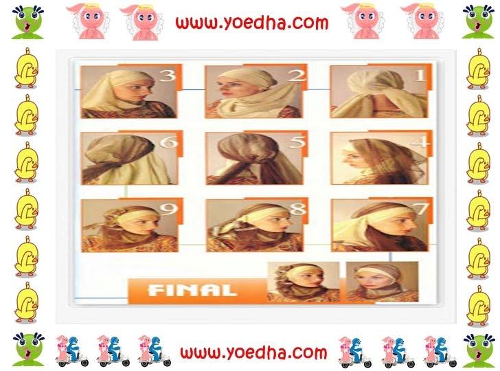 memakai jilbab modern, cara memakai jilbab, jilbab modern