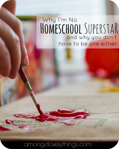 Why I'm No Homeschool Superstar