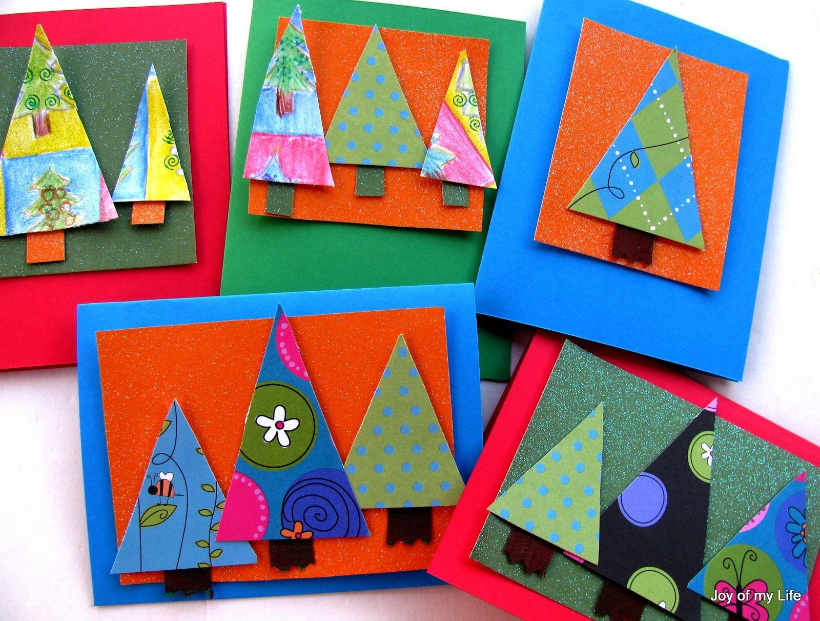 Postales de Navidad con recortes TARJETAS HECHAS A MANO ALEQUIN