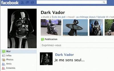 Dark Vador sur Facebook.