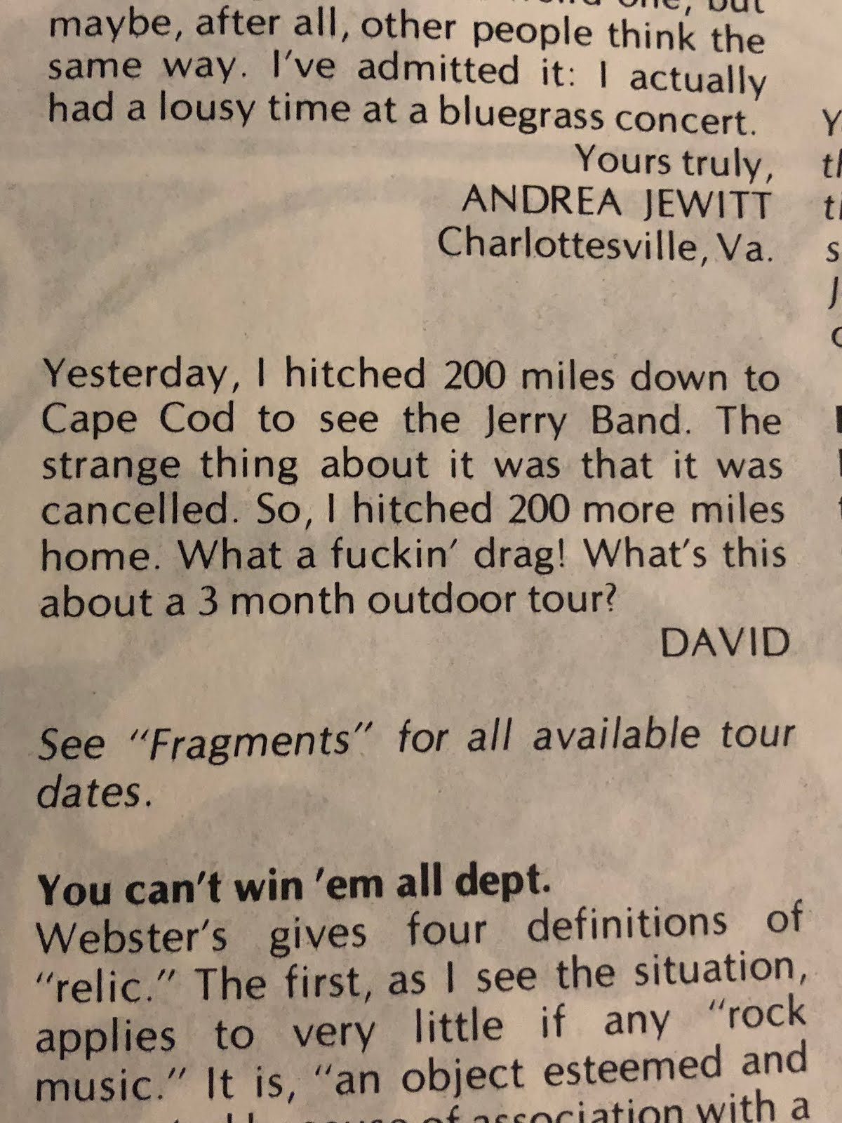 My Letter in Dead Relix